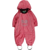 Winteroverall Biobaumwolle rot pastell