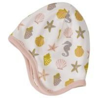 Vorschau: Baby Wendemütze ohne Bänder rosa - Seesterne