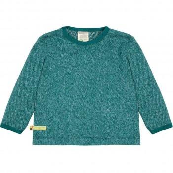 Strick Shirt langarm in grün melange