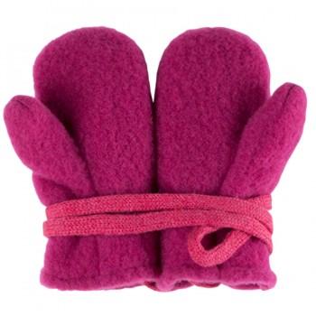 Baby Woll Fleece Fäustel pink