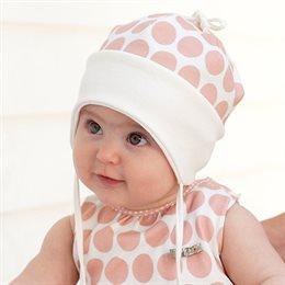 Softe Mütze Übergangszeit Ohrenschutz pfirsich
