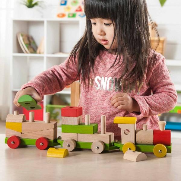 Stapelzug Steckspielzeug aus Holz