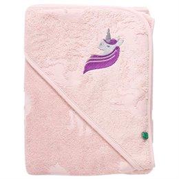 Baby Badehandtuch Einhorn 100x100 rosa