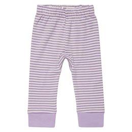 Lila Bio Babyleggings elastisch breiter Fußbund