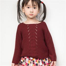 Edler leichter Mädchen Pullover bordeaux