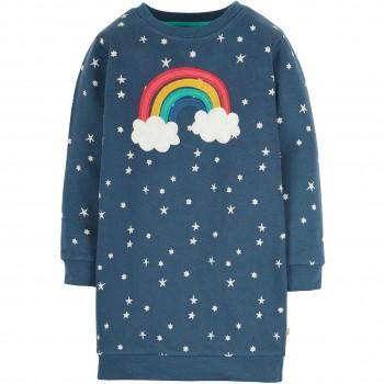 Pulloverkleid Regenbogen Aufnäher navy