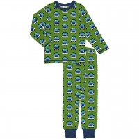Schlafanzug Auto langarm grün