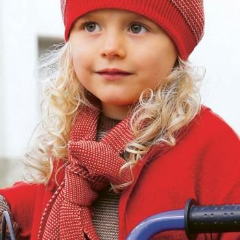 Schal Wolle ab 2 - 12 Jahre rot