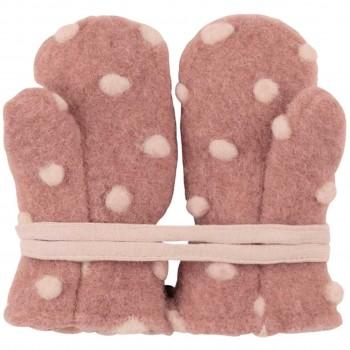 Warme Woll Fäustel Punkte in rosa