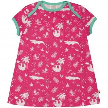 sommerliches Kleid Dschungel pink