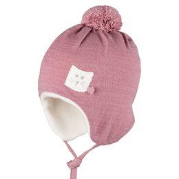 Warme Bio Baby Wintermütze altrosa