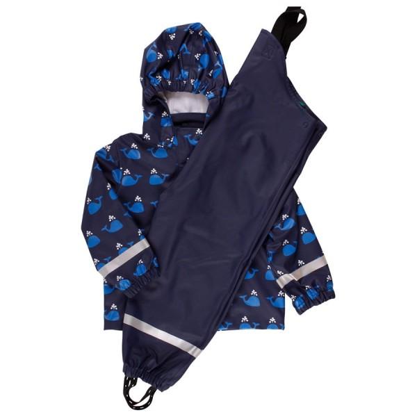 Regenbekleidung dunkelblau mit Walen