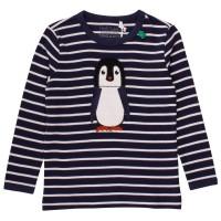 Griffiges Langarmshirt Pinguin gestreift