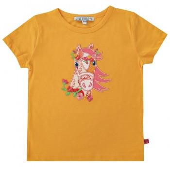 Pferde Shirt kurzarm gelb
