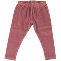 Warme Velour Leggings in rosa