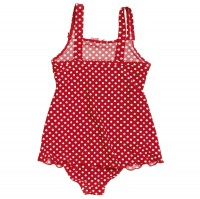 Vorschau: Badeanzug mit Röckchen und breiten Trägern - süß