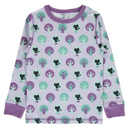 Lila Katzen Shirt langarm