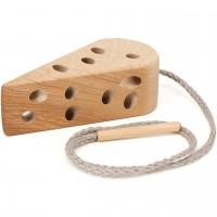 Holz Fädelspiel Käse – ab 3 Jahren