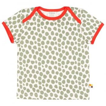 Kurzarm Shirt Gepard-Look oliv-grün