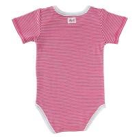 Vorschau: Streifen Body kurzarm pink