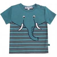 T-Shirt mit Druckknöpfen Elefant