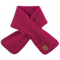 Fleece Wolle Steckschal 80x12 cm pink