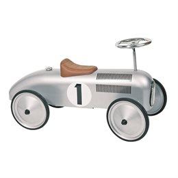 Rutscherfahrzeug mit Gummiräder - Klassik silber