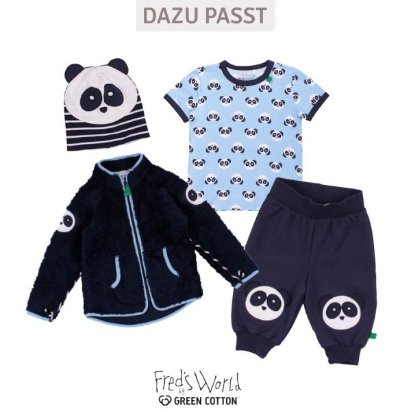 Sommer Interlock Babystrampler Panda