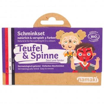 Bio Kinderschminke Teufel & Spinne 3 Farben