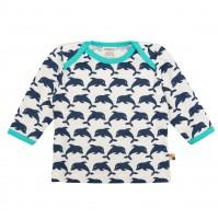 Bio Shirt Delfin langarm marine