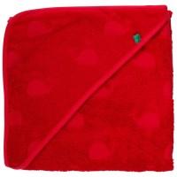 Rotes Baby Badetuch 100x100 - von Geburt bis 3 Jahre