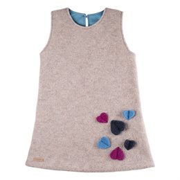 Mädchenkleid aus hochwertiger Merinowolle Indigo grau