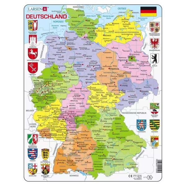 Karte Bundesländer.Lernpuzzle Deuschland Bundesländer Für Kinder Ab 6 Jahre