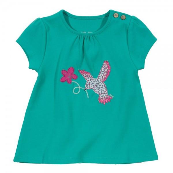 T-Shirt mit Knöpfen - Vögelchen