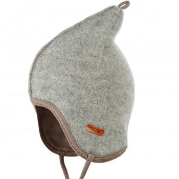 Fleece Mütze doppellagig in grau