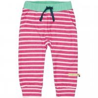 leichte Jogginghose Ringel Bündchen pink