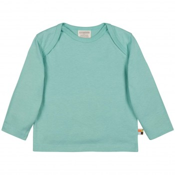 Leichtes Uni Shirt langarm Basic in mint
