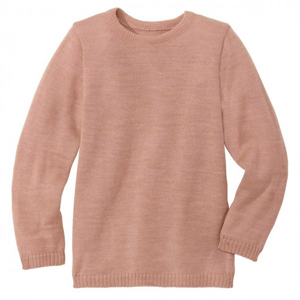 Wolle Basic Pullover in rosa