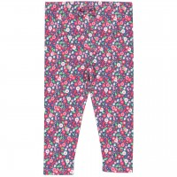 Blumen Leggings pink-rosa