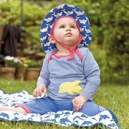 Leichte robuste Bio Sommer Mütze blau