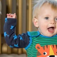 Vorschau: Bio Baby Body Stoffwindeln Sterne Tiger
