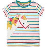 T-Shirt Pferde Aufnäher pink