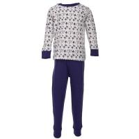 Kuscheliger Schlafanzug Interlock mit Pilzen - lila neutral