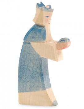 Heilige Drei Könige Krippenfigur blau
