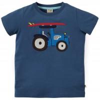 T-Shirt Traktor Aufnäher marine