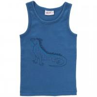 Jungen Unterhemd Leguan blau