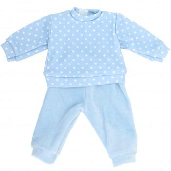 Puppenkleidung: Schlafanzug (blau)
