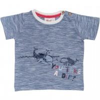 Slub T-Shirt 2 Wale in jeansblau mélange