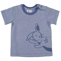Süsser Hoppelhase T-Shirt blau