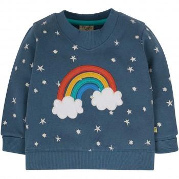 Sweat Pullover V-Ausschnitt Regenbogen